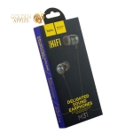 Наушники Hoco M31 Delighted sound Universal Earphones with mic (1.2 м) с микрофоном Gray Серые