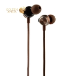 Наушники Hoco M32 Contented wave Universal Earphones with mic (1.2 м) с микрофоном Brown Коричневые