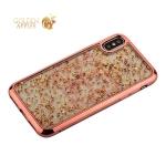 Накладка пластиковая Santa Barbara Polo&Racquet Clory Series для iPhone XS силиконовый борт Розовое-золото
