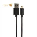 USB дата-кабель Deppa D-72215 витой USB - microUSB 2-сторонние коннекторы (USB 2.0/ 2А) 2м Черный