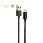 USB дата-кабель Deppa D-72278 витой USB A 2.0 - USB Type-C (USB 2.0/ 2А) 1.5м Черный