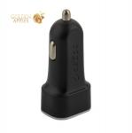 Разделитель автомобильный Deppa Car charger 2.4A D-11282 12/24V (2USB: 5V/2.4A) Черный