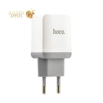 Адаптер питания Hoco C33A Little superior double port charger с кабелем Lightning (2USB: 5V max 2.4A) Белый