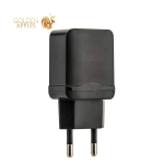 Адаптер питания Hoco C33A Little superior double port charger с кабелем Lightning (2USB: 5V max 2.4A) Черный