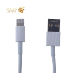 USB дата-кабель Remax Chaino Series Cable (RC-120i) LIGHTNING 2.1A круглый (1.0 м) Белый