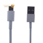 USB дата-кабель Remax Chaino Series Cable (RC-120m) MicroUSB 2.1A круглый (1.0 м) Белый