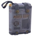 Аккумулятор внешний универсальный Remax RPP 79- 10000 mAh Armory power bank (2USB: 5V-2.1A) Черный