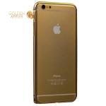 Алюминиевый бампер для iPhone 6S Plus / 6 Plus Fashion Case (замок сбоку), цвет золотистый c золотой полоской
