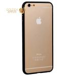 Алюминиевый бампер для iPhone 6S Plus/ 6 Plus Fashion Case (замок в верху), цвет черный