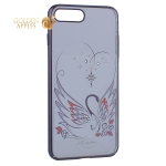 Чехол-накладка Kingxbar для iPhone 8 Plus пластик со стразами Swarovski 49F Лебединая Любовь черный