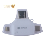 Кардридер COTEetCI 4в1 TF/ SD (microCD/ CD/ USB-C/ MicroUSB) Card reader CS5132-WH Белый