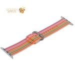 Ремешок COTEetCI W30 Nylon Rainbow Band (WH5250-WP-38) для Apple Watch 40 мм Бело-Розовый