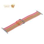 Ремешок COTEetCI W30 Nylon Rainbow Band (WH5251-WP-42) для Apple Watch 44 мм Бело-Розовый