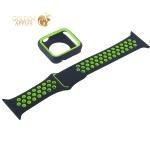 Ремешок спортивный COTEetCI W32 Sports Band Suit (WH5253-BK+YL-38) для Apple Watch 40 мм Черно-Оранжевый