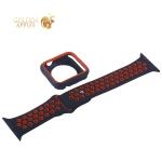 Ремешок спортивный COTEetCI W32 Sports Band Suit (WH5255-BK+RD-42) для Apple Watch 44 мм Черно-Красный