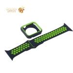 Ремешок спортивный COTEetCI W32 Sports Band Suit (WH5255-BK+YL-42) для Apple Watch 44 мм Черно-Зеленый