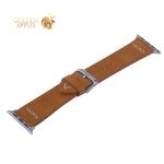 Ремешок кожаный COTEetCI W33 Fashion LEATHER классическая пряжка (WH5256-KR-38) для Apple Watch 38 мм Коричневый