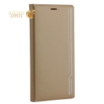 Чехол-книжка кожаный Peacocktion для iPhone XS Max (6.5) Royal Series (ZGIIP9GLD) Золотистый
