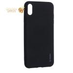 Чехол-накладка Deppa Case Silk TPU Soft touch D-89036 для iPhone XS Max 1 мм Черный металик