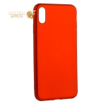 Чехол-накладка Deppa Case Silk TPU Soft touch D-89038 для iPhone XS Max 1 мм Красный металик