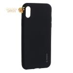 Чехол-накладка Deppa Case Silk TPU Soft touch D-89040 для iPhone X (5.8) 1 мм Черный металик