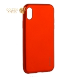 Чехол-накладка Deppa Case Silk TPU Soft touch D-89042 для iPhone X (5.8) 1 мм Красный металик