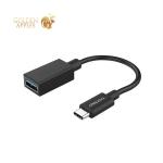 Переходник-адаптер Deppa OTG USB-A 3.0/ Type-C D-72208 0.15м Черный