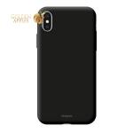 Чехол-накладка пластик Soft touch Deppa Air Case D-83363 для iPhone XS Max (6.5) 1мм Черный
