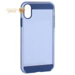 Чехол-накладка Black Rock Air Robust пластик прозрачный для iPhone XR (6.1) силиконовый борт (800079) 1070ARR25 Синий
