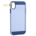 Чехол-накладка Black Rock Air Robust пластик прозрачный для iPhone XS (5.8) силиконовый борт (800073) 1060ARR25 Синий