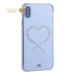 Чехол-накладка White Diamonds Eternity пластик для iPhone XS с кристаллами Swarovski 1360ETY5 Прозрачый