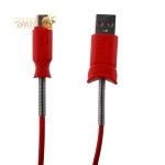 USB дата-кабель Hoco X24 Pisces MicroUSB (1.2 м) Красный