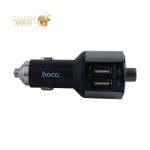 Разделитель автомобильный Hoco E19 c FM-трансмитером Smart Car Wireless FM Transmitter Charger (2USB: 5V & 2.4A) - Графитовый