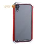 Чехол-накладка Element Case (AL&Glass) для Apple iPhone XR (6.1) G-Solace серебристо-красный ободок