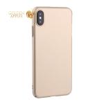 Чехол-накладка пластик Soft touch Deppa Air Case D-83364 для iPhone XS Max (6.5) 1мм Золотистый