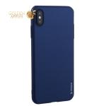 Чехол-накладка пластик Soft touch Deppa Air Case D-83367 для iPhone XS Max (6.5) 1мм Синий
