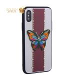 Накладка силиконовая TOTU Butterfly Love Series -019 для iPhone XS (5.8) Бабочка Red