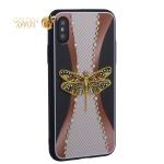Накладка силиконовая TOTU Dancing Dragonfly Series -020 для iPhone X (5.8) Стрекоза Gold