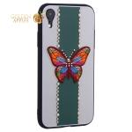 Накладка силиконовая TOTU Butterfly Love Series -019 для iPhone XR (6.1) Бабочка Green