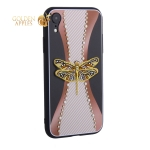 Накладка силиконовая TOTU Dancing Dragonfly Series -020 для iPhone XR (6.1) Стрекоза Gold