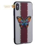 Накладка силиконовая TOTU Butterfly Love Series -019 для iPhone XS Max (6.5) Бабочка Red
