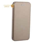 Чехол-книжка кожаный Fashion Case Slim-Fit для iPhone XS Max (6.5) Gold Золотой