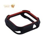 Чехол силиконовый бампер COTEetCI PU+TPU case для Apple Watch Series 5/ 4 (CS7051-BR) 40 мм Черный (красный ободок)