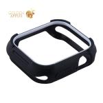 Чехол силиконовый бампер COTEetCI PU+TPU case для Apple Watch Series 5/ 4 (CS7051-BW) 40 мм Черный (белый ободок)