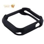Чехол силиконовый COTEetCI PU+TPU case для Apple Watch Series 4 (CS7052-BK) 44мм Черный (черный ободок)