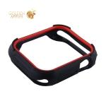 Чехол силиконовый COTEetCI PU+TPU case для Apple Watch Series 4 (CS7052-BR) 44мм Черный (красный ободок)
