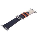 Ремешок кожаный COTEetCI W36 Fashoin Leather (WH5260-44-ICO) для Apple Watch 44 мм (short) Синий-Бежевый