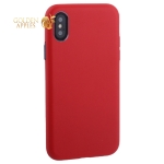 Чехол-накладка кожаная TOTU Imitation all covered PU Leather Case для iPhone XS (5.8) AAiX/iXS-016 Красный