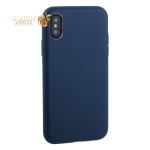 Чехол-накладка кожаная TOTU Imitation all covered PU Leather Case для iPhone XS AAiX/iXS-016 Синий