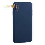 Чехол-накладка кожаная TOTU Imitation all covered PU Leather Case для iPhone XS Max (6.5) AAiXSMAX-016 Синий